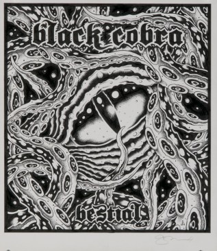 Alan Forbes - Black Cobra Bestial Ink on paper, 8x11 in. $300