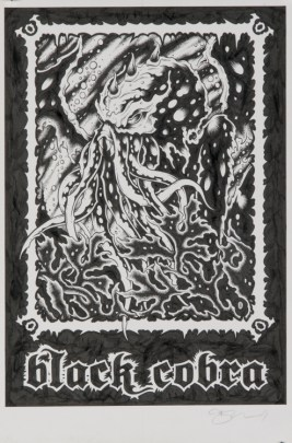 Alan Forbes - Black Cobra Kraken Ink on paper, 7.5x11 in. $300