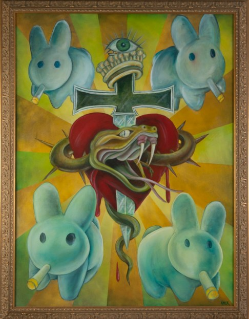 Kozik - Crown of Bunnies Oil on canvas, 36x48 in. $5000 Sold