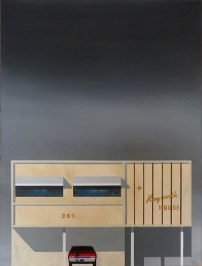 "Michael Murphy - LA Dingbat No 2. acrylic on canvas, 18x24"", $1200 Sold"