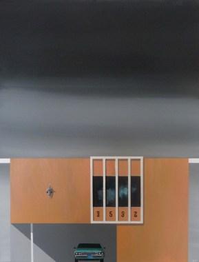 "Michael Murphy - LA Dingbat No 3. acrylic on canvas, 18x24"", $1200"