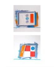 "Michael Murphy - Pan Am Kiosks. acrylic on illus. board, 16x20"", $800"