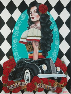 Gustavo Rimada - Califas Kulture Acrylic, oil on canvas, 36x48 in. $3500