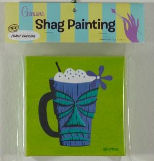 Shag - Foamy Cocktail Cel vinyl on canvas, 6x6 in. $1200