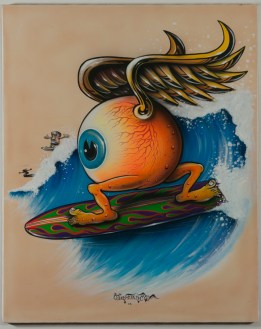 Von Franco - Surfing Eyeball Acrylic gouache on posterboard, 24x30 in. $3000