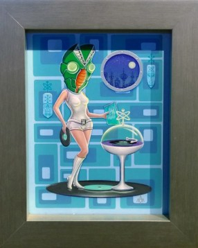 Aaron Marshall - Baltan Space Records Acrylic on canvas, 9x12 in. (plus frame) $1000