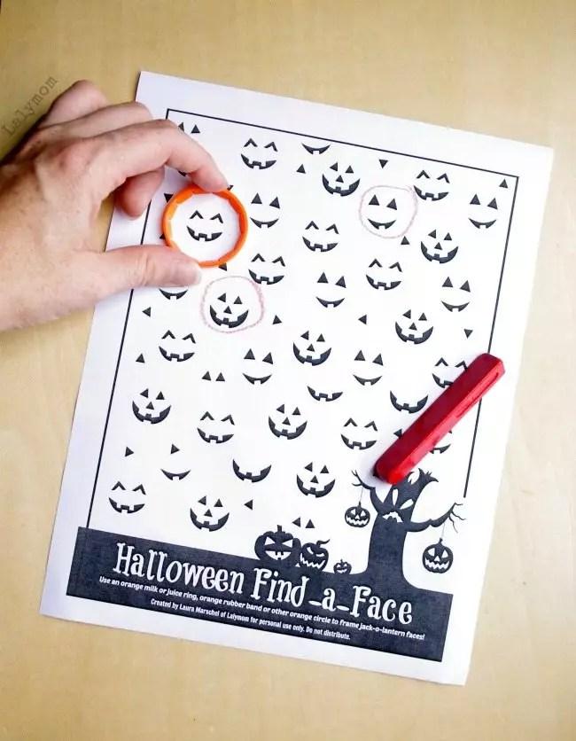 Printable Preschool Halloween Games Worksheet - LalyMom