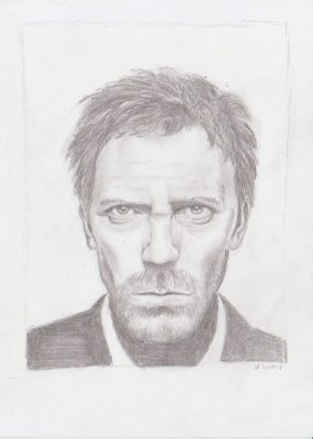 Drawing of Hugh Laurie
