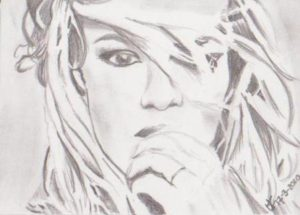 Drawing of Britney Spears
