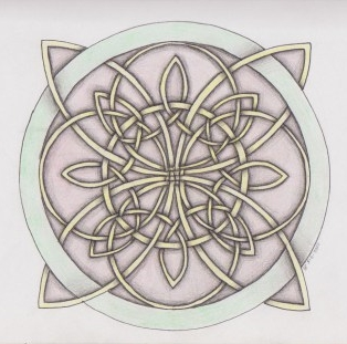 Celtic Art - Wheel of life drawing
