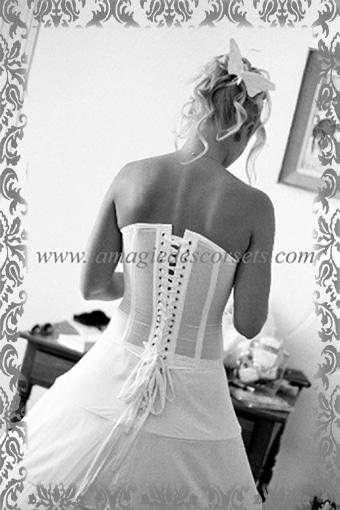 Création de Bustier de mariée blanc à Brest