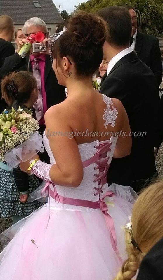robe de mariee rose poudre la magie des corsets. Black Bedroom Furniture Sets. Home Design Ideas