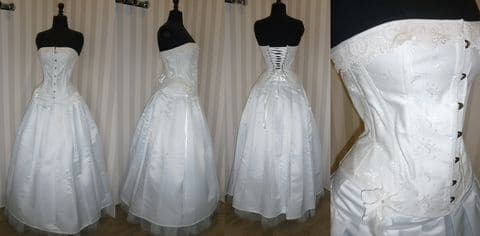 Boutique Robe mariée Brest broche jupe plissée