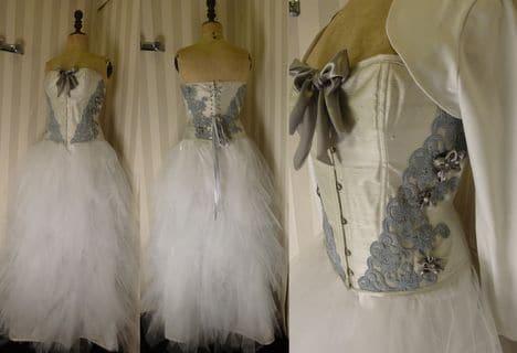 Atelier de Robe mariée mouchoirs tulle grise