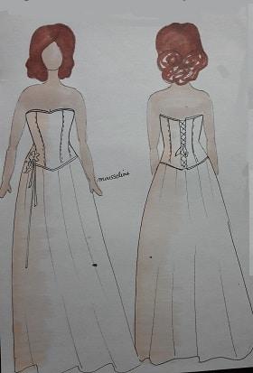 robe de mariée marine