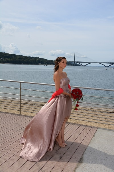 robe de mariée en soie Profil