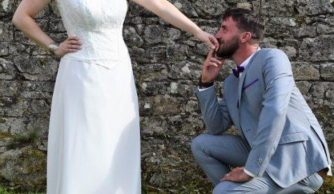 Robe de mariée tulle rebrodée