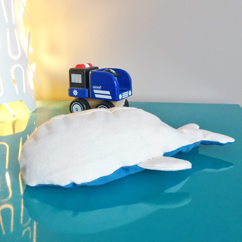 Coudre une baleine avec des chutes de tissus