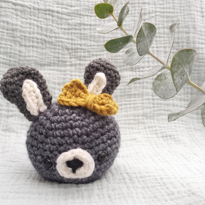 Mon premier projet au crochet : Un lapin !