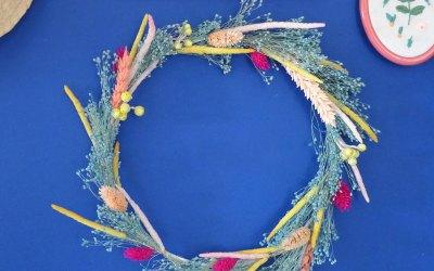 DIY : Faire une couronne de fleurs