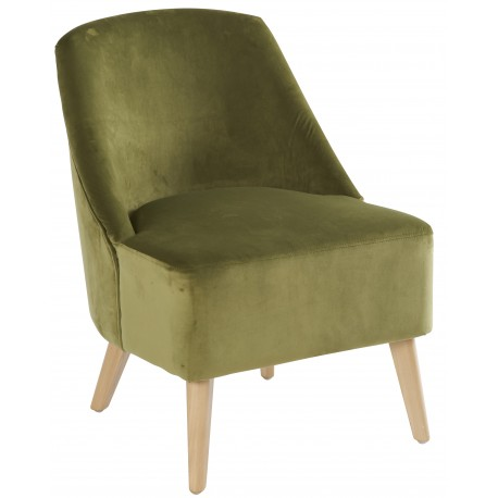 "FAUTEUIL VELOURS ""CRAWFORD"""