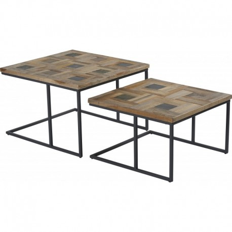 "SET DE 2 TABLES BASSES ""KOBE"""