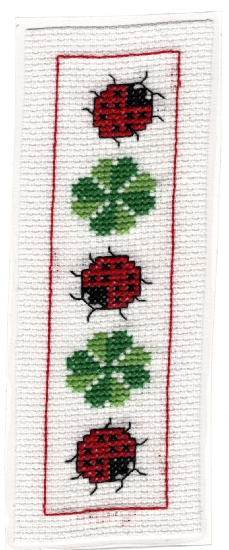 Marque Page Point De Croix : marque, point, croix, Marque-page, Point, Croix, Comptés, Coccinelle, Trèfle