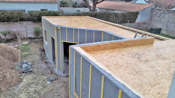 Ossature toit plat