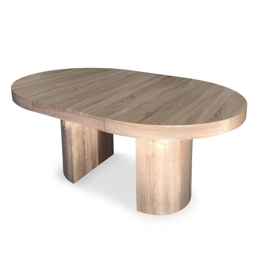 table ronde extensible chene clair