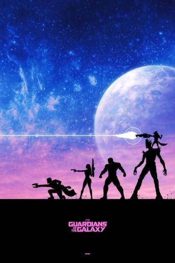 Fan Poster Gardiens de la Galaxie Marvel Disney