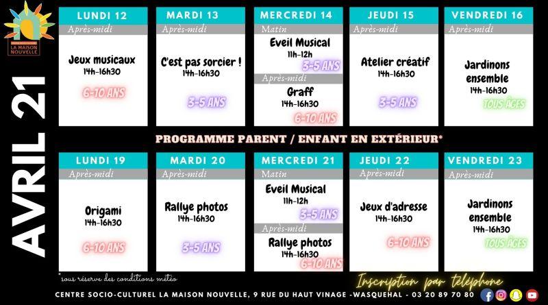 Avril 2021 «the program»