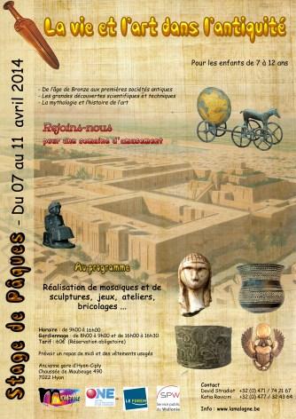 Du 07/04 au 11/04 : La vie et l'art dans l'antiquité