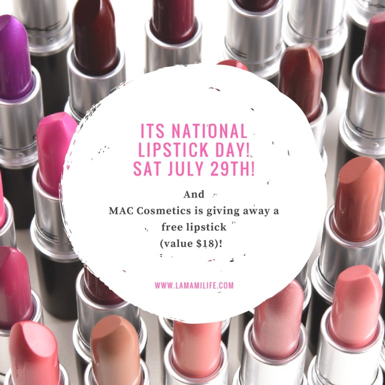 its national lipstick day!1