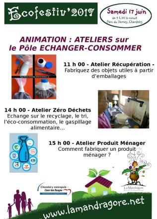 Animation - Pole echanger consommer - Ecofestiv 2017