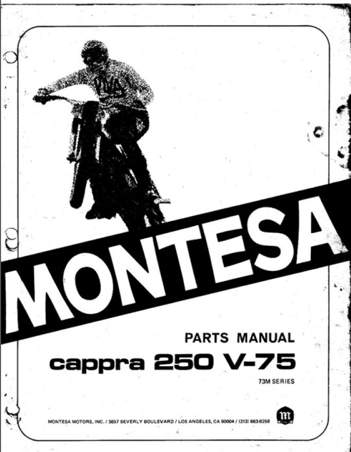 Manual de despiece y especificaciones de Montesa Cappra