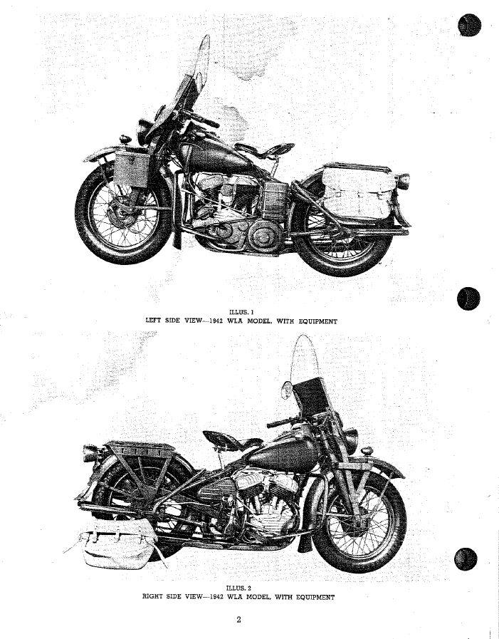 Harley Davidson Militar y Normal Mod. 42 WLA 1 Parte