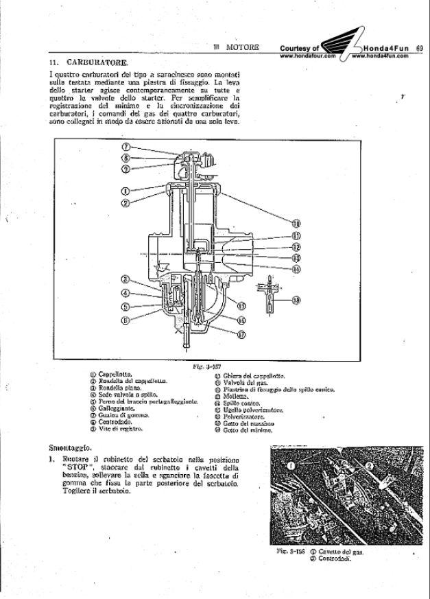 Honda CB350F CB500F CB750F. Manual Oficina 1972 Italiano 3