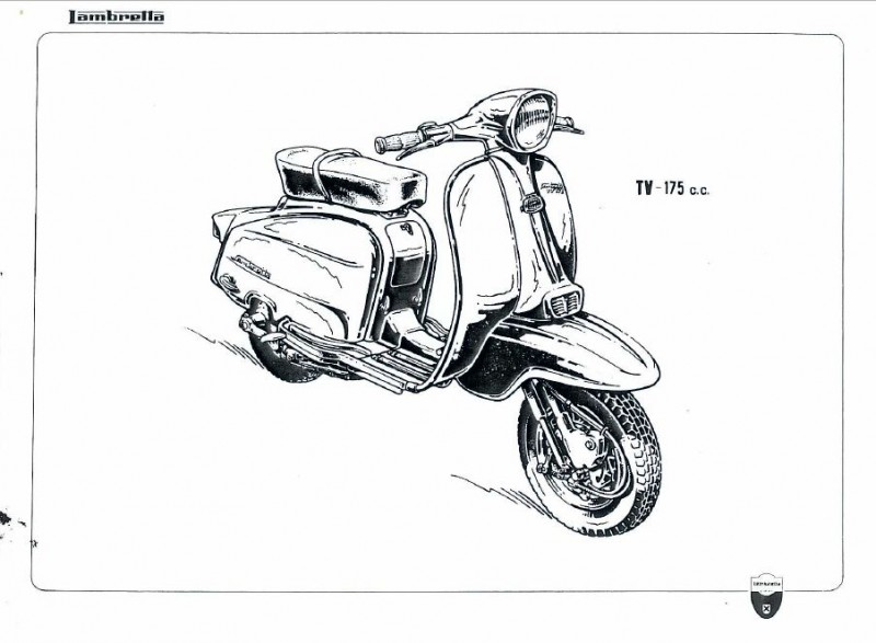 Lambretta 125-150-175 cc. Catálogo de piezas de recambio