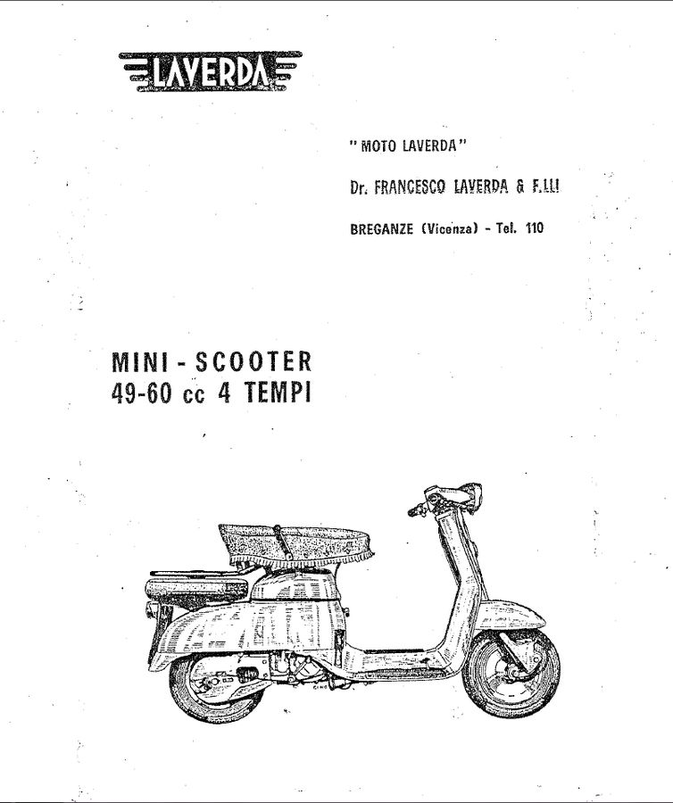 Laverda Mini Scooter 49-60cc 4T. Manual de uso y