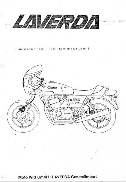 Laverda 1000-1200 cc Jota Version 1981 1982. Despiece