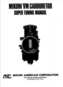 Mikuni VM Carburador .Manual de puesta a punto en inglés