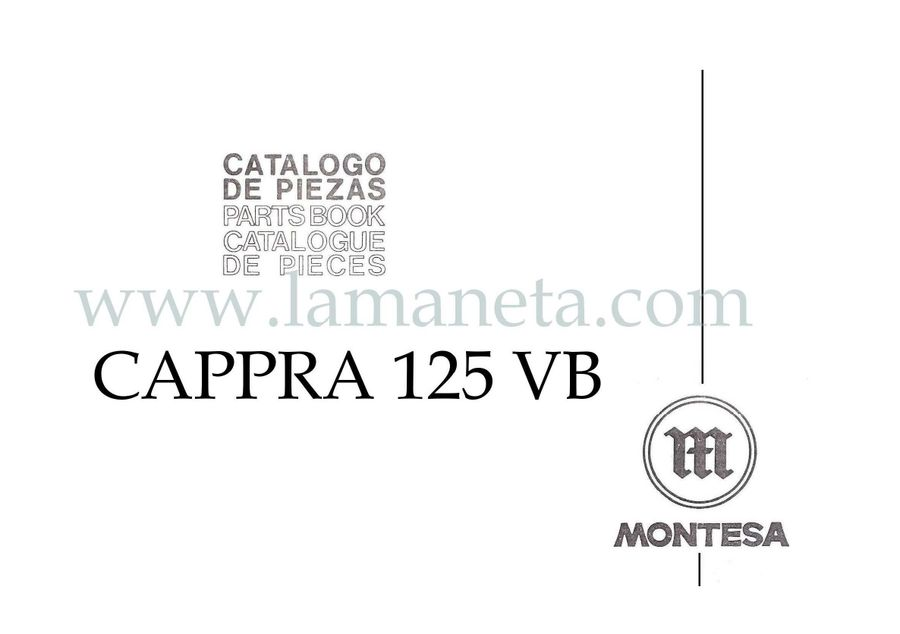 Montesa Cappra 125 VB . Catálogo de piezas. 1ª Parte