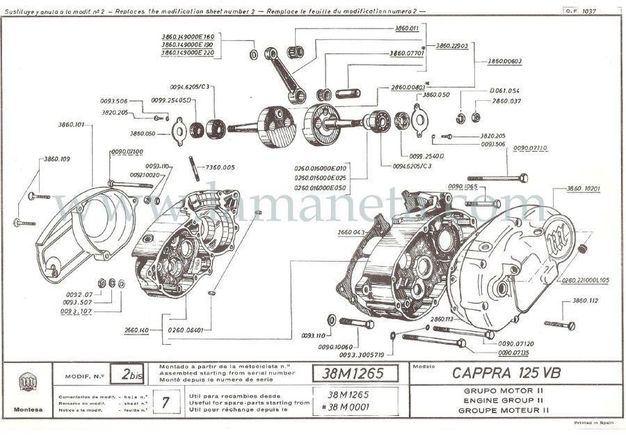 Montesa Cappra 125 VB . Catálogo de piezas. 2ª Parte