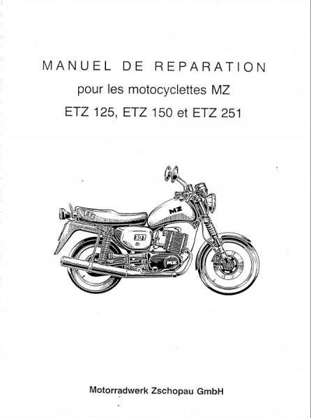 MZ Modelo ETZ para las cilindradas 125,150 y 251. Manual
