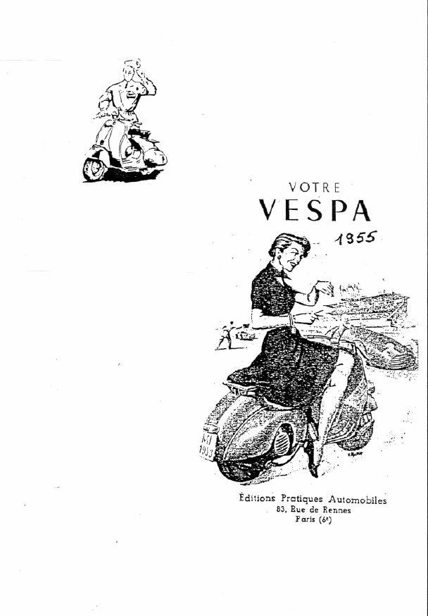 Vespa 125 Version 1955 Manual de Taller Estudio RTM-FR