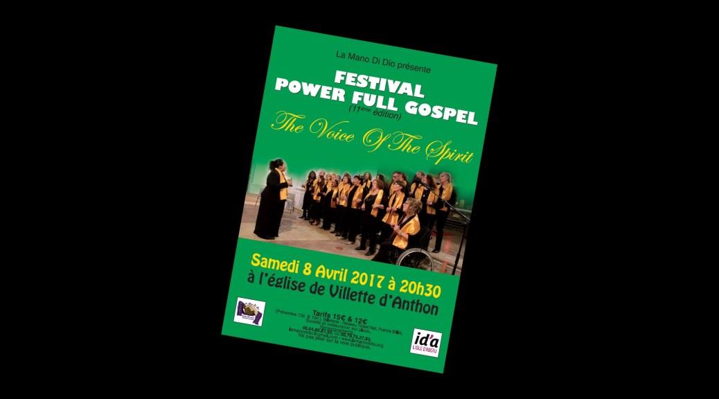 Flyer concert du 08/04/2017 - Festival Power Full Gospel