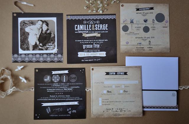 3-faire-part-mariage-camilleserge-vintage-typographie-kraft-noir-beige-original-sur-mesure-2