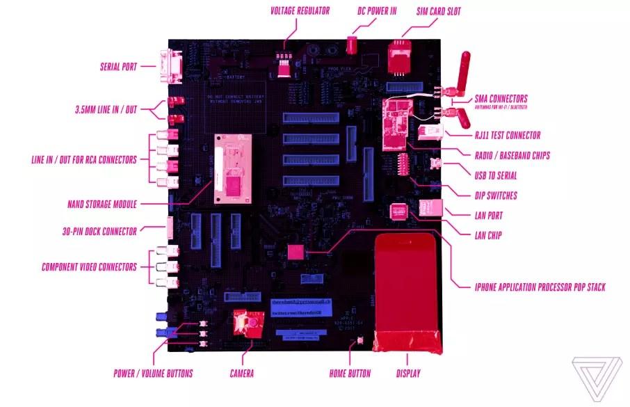 placa prototipo iPhone original