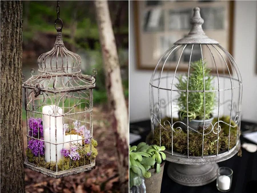 Dco de mariage Les cages  oiseaux  La Marie en Colre Blog Mariage grossesse voyage de noces