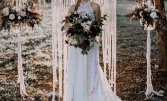 Macrame décoration de mariage